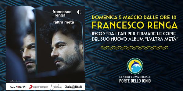 Francesco Renga a Taranto per presentare il nuovo album
