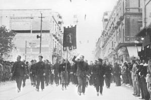 1933 Via d'aquino Xi ann. marcia su Roma