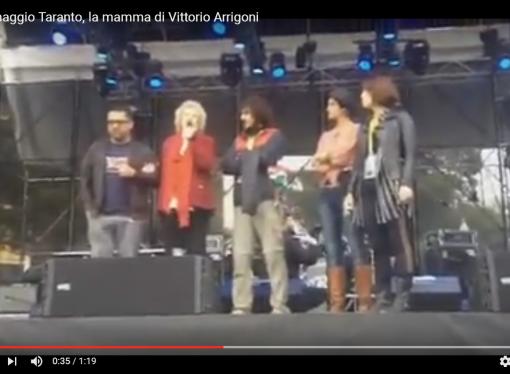 Uno maggio, la mamma di Arrigoni: a Taranto è minacciato il diritto alla salute