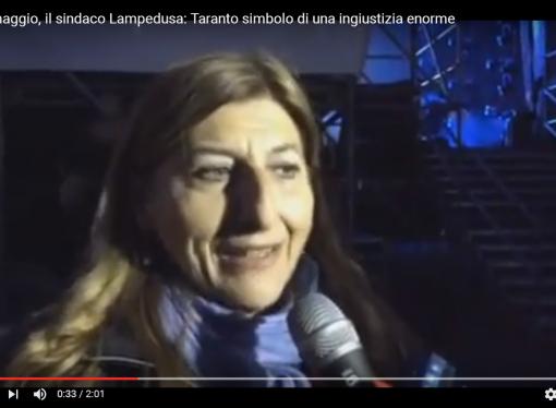 Uno maggio Taranto, il sindaco di Lampedusa: sono qui per lottare insieme a voi