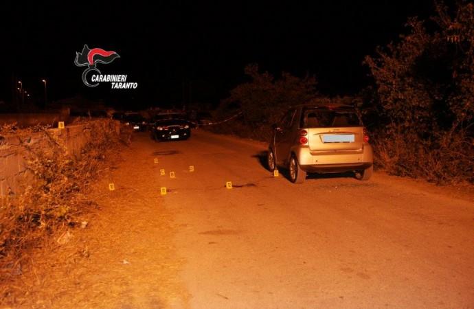 Omicidio in provincia di Taranto, crivellato di colpi a bordo della sua auto