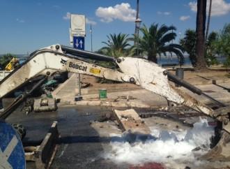 Taranto, grave rottura della condotta idrica