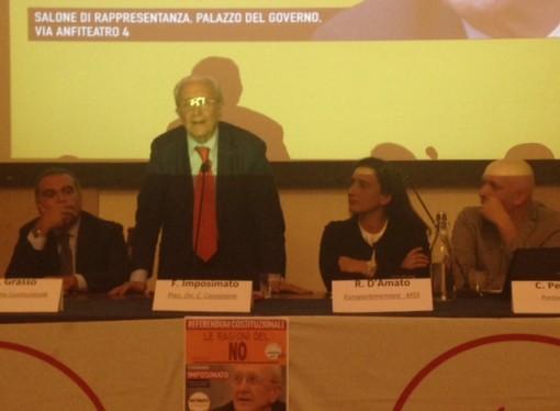 Imposimato, il No a Renzi e il caso Moro: a Taranto è confronto aperto
