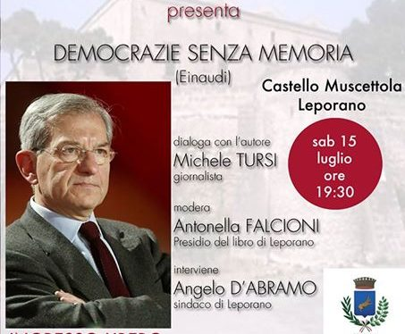 """""""Democrazie senza memoria"""", conversazione con Luciano Violante"""