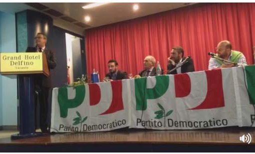 Taranto, la frattura Pd in diretta