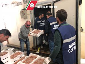 Taranto, nei locali del Comune una pescheria abusiva