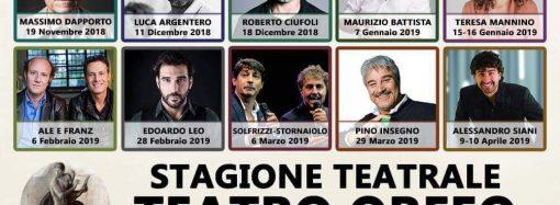 "Orfeo, stagione 2018-2019: il cartellone teatrale <span class=""dashicons dashicons-calendar""></span>"