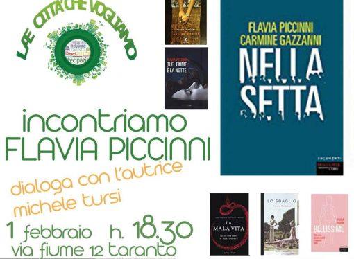 """""""Nella Setta"""", Flavia Piccinni presenta il suo libro a Taranto <span class=""""dashicons dashicons-calendar""""></span>"""