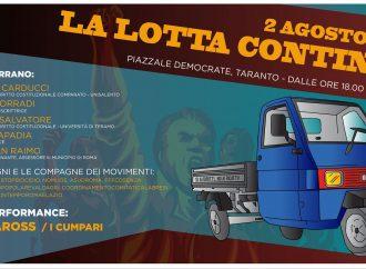 2 agosto, giornata Libera e Pensante in piazzale Democrate