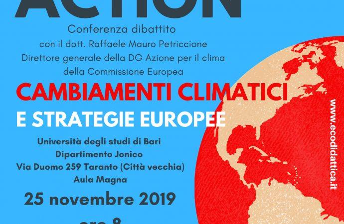Climate Action, evento Ecodidattica lunedì a Taranto