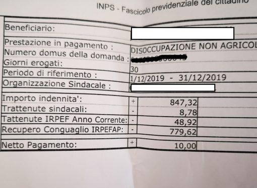"""Indennità ridotta a 10 euro. """"Regalo"""" dell'Inps a gennaio"""