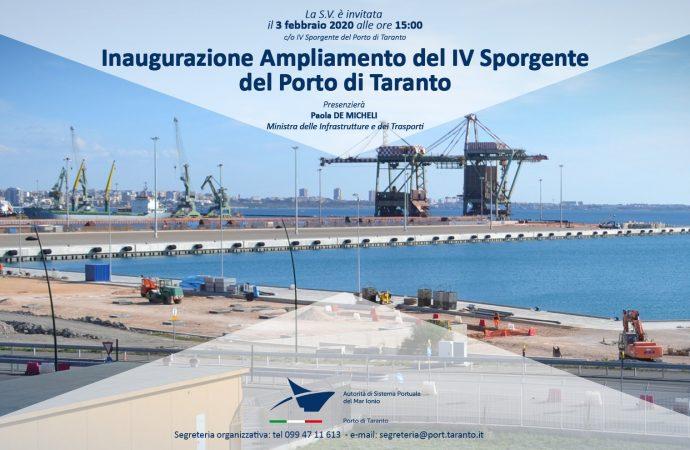 IV Sporgente, una nuova infrastruttura per il porto di Taranto