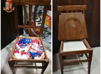 Taranto, sigarette di contrabbando nel doppio fondo della sedia