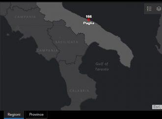 Aggiornamento ore 22, un decesso a Taranto. E i casi positivi salgono a 19