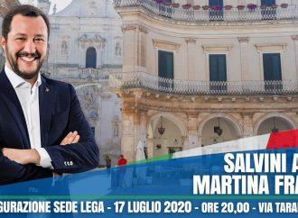 Salvini a Martina Franca per inaugurare la sede della Lega