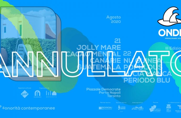 Taranto, annullato Onde Festival. Gli organizzatori: Scelta etica e opportuna
