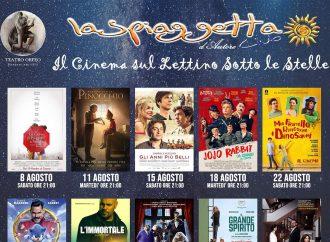 Marina di Taranto, cinema in spiaggia, film sotto le stelle… sdraiati sul lettino