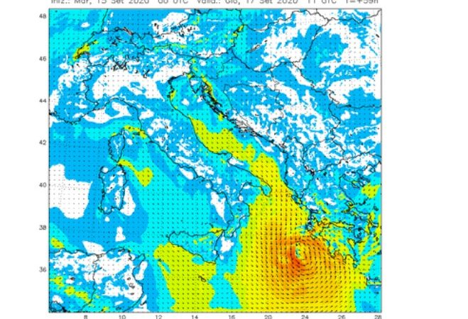 "Allerta meteo nel Mar Ionio, arriva ""Medicane"" ciclone mediterraneo"