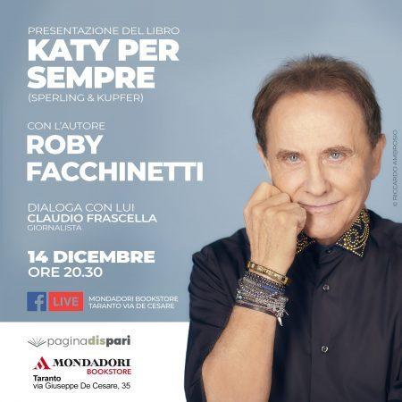 """Roby Facchinetti on line per """"Katy per sempre"""", il suo primo romanzo"""