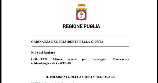 Scuola, così in Puglia sino al 23 gennaio. Il testo dell'ordinanza
