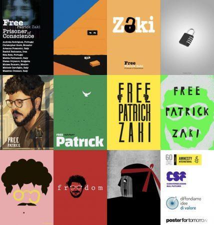 Anche a Taranto e in Puglia i 10 manifesti di 'Free Patrick Zaki, prisoner of conscienze'