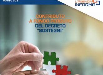 Decreto Sostegni, dal 30 marzo al 28 maggio le domande per il contributo a fondo perduto