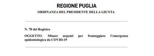 Scuola, ordinanza regionale per le province di Bari e Taranto: novità importante
