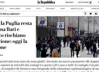 Covid, Bari e Taranto rischiano di passare in zona arancione