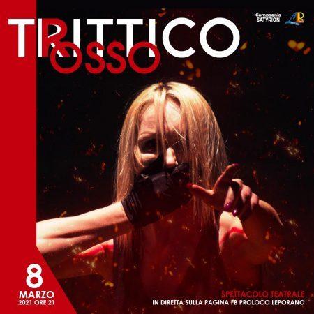Trittico Rosso, 8 marzo con il teatro in streaming della Satyrion