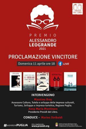 Premio Alessandro Leogrande, domenica la proclamazione del vincitore