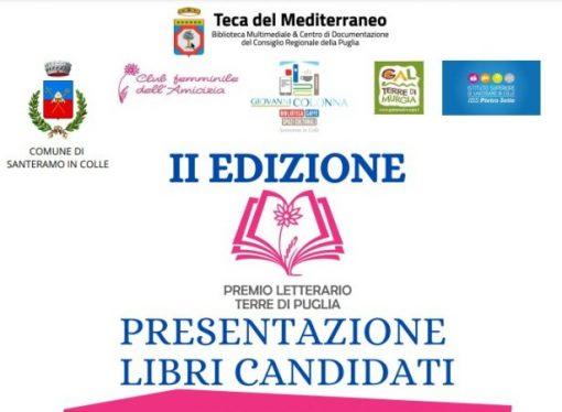 """Premio """"Terre di Puglia"""", venerdì la presentazione dei libri candidati"""