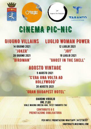 Taranto, Piccolo Eco-Cinema ai Giardini Virgilio