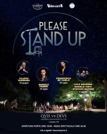 Please Stand Up, rassegna commedy alla Quis ut Deus: il programma