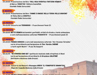"Palagianello, gli eventi di agosto: Carone, Galatone, Terraross… <span class=""dashicons dashicons-calendar""></span>"